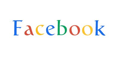 Image of Facebook in the style of Google's Logo