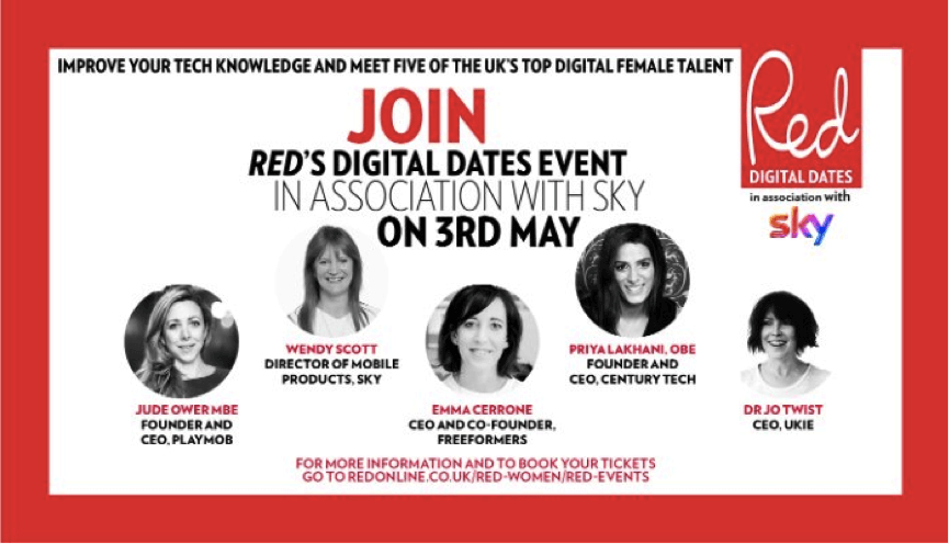 Red'd digital dates event