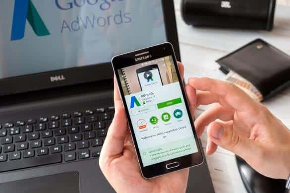 Google Advertising mobile and laptop