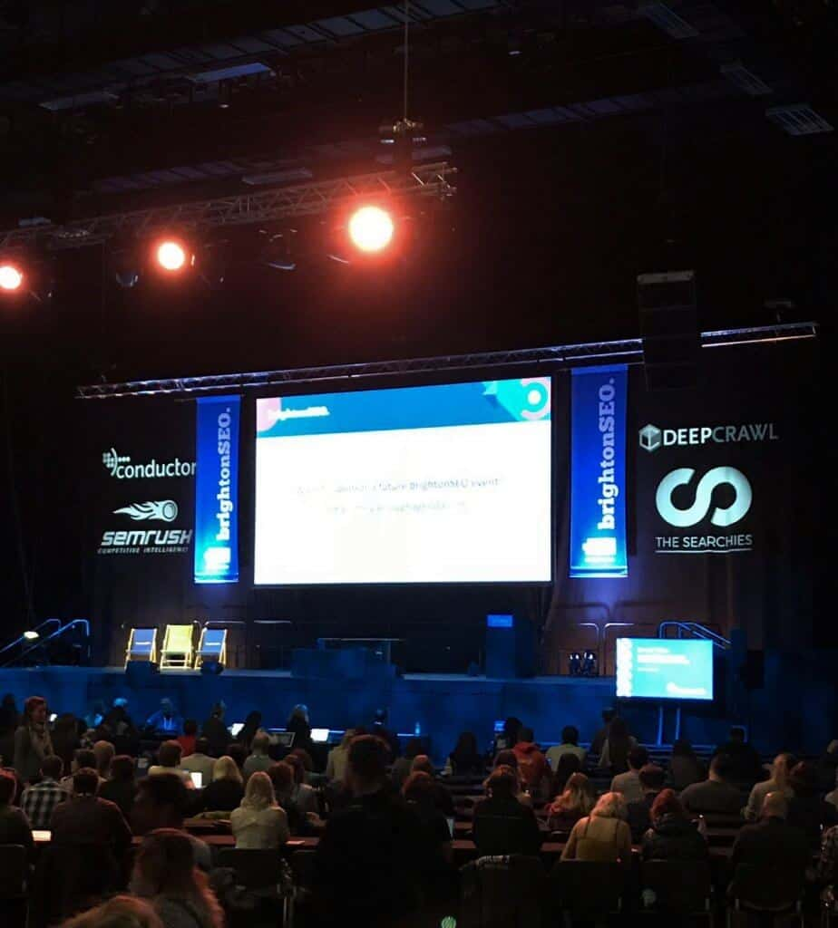 Shot of stage at BrightonSEO