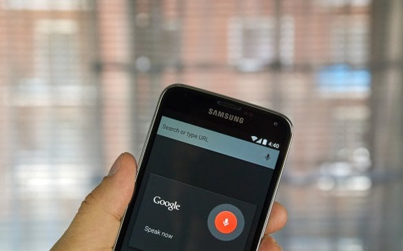 Phone using voice search