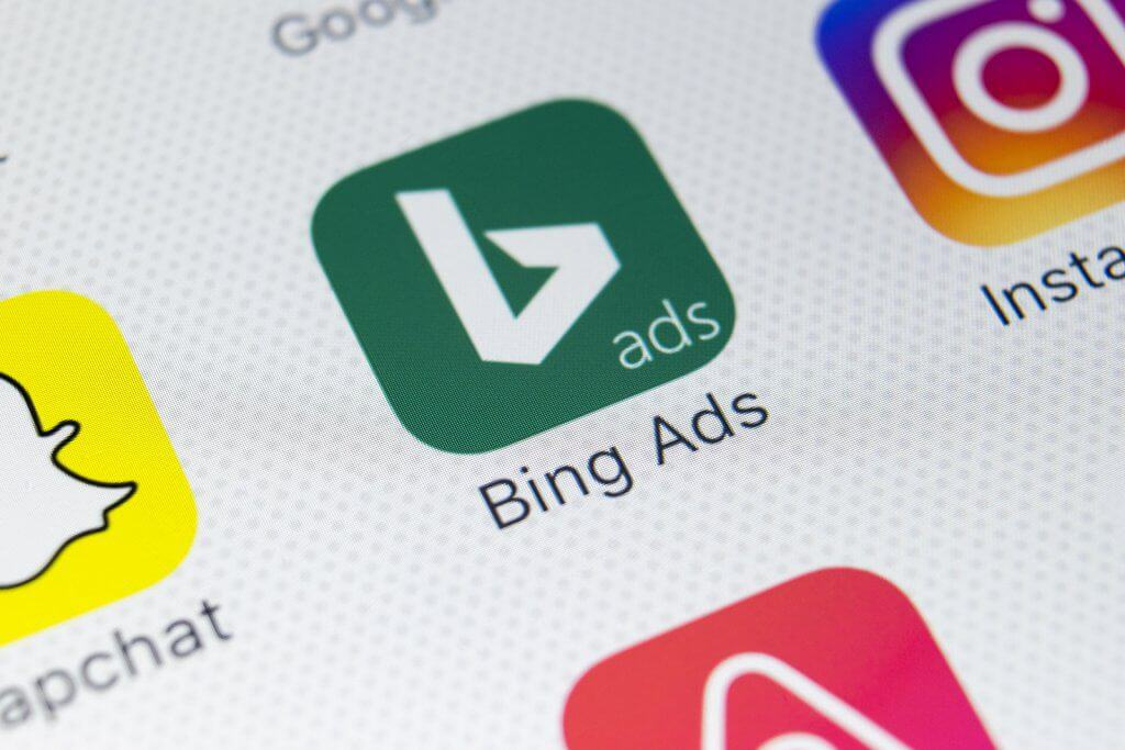 Bing Ads logo on screen