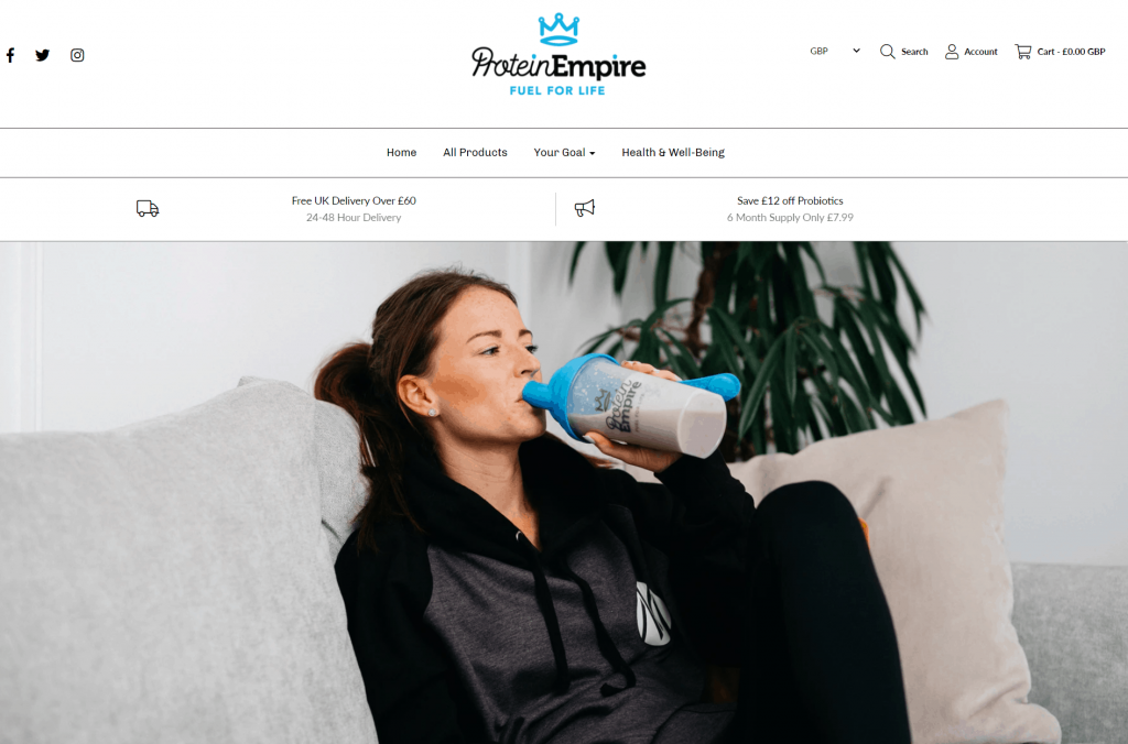 Protein Empire Homepage